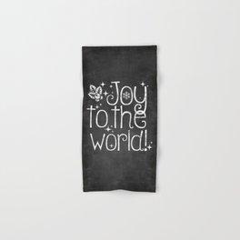 Joy to the world chalkboard christmas lettering Hand & Bath Towel