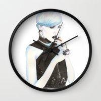 cigarette Wall Clocks featuring Cigarette by Alessandra Castagnolo