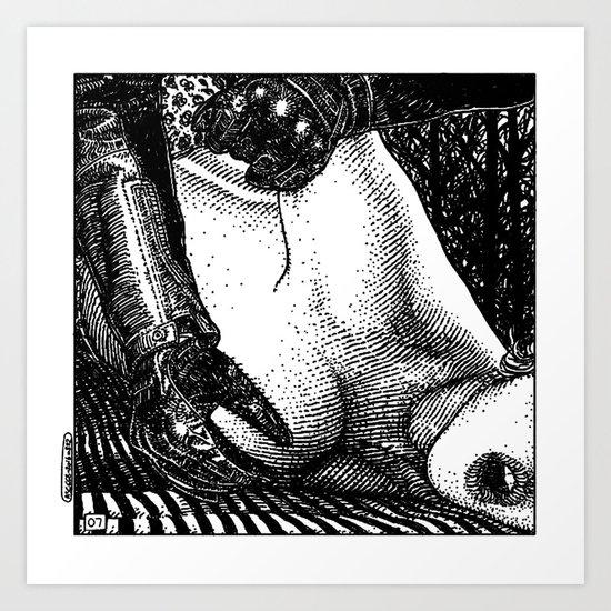 asc 668 - Les rendez-vous du crépuscule (Visitors in the twilight) #07 Art Print