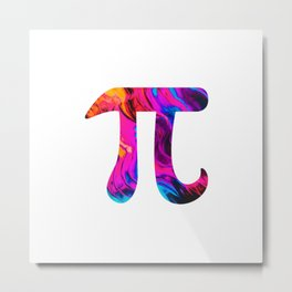 Eternal Abstract Pi Metal Print
