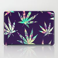 cannabis iPad Cases featuring Merry Cannabis by GypsYonic