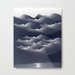 Navy Blue Mountains #2 #decor #art #society6 Metal Print