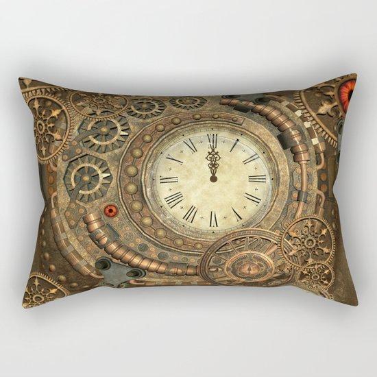 Steampunk, clockwork Rectangular Pillow
