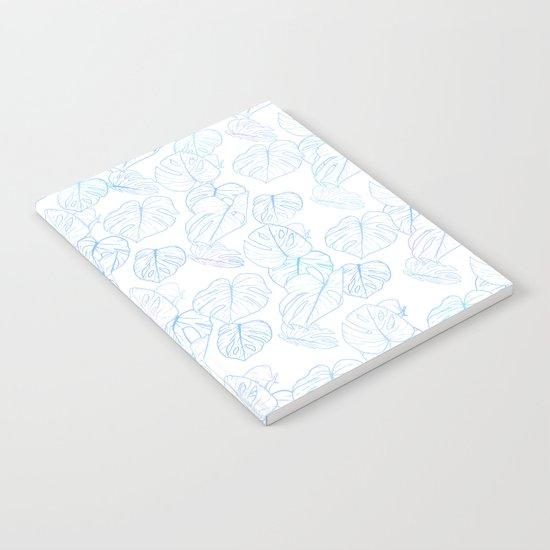 Monstera (White Glow) - Blue by hundilaul