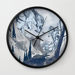 Clash of Colossus Wall Clock