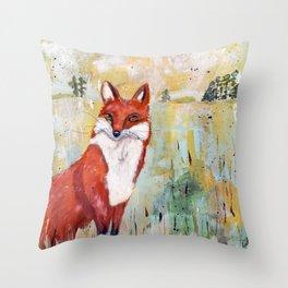 Franz the Fox Throw Pillow