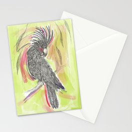 Lime wash Cockatoo Stationery Cards