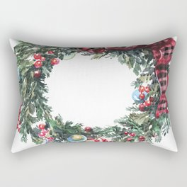 Christmas wreath of happiness Rectangular Pillow