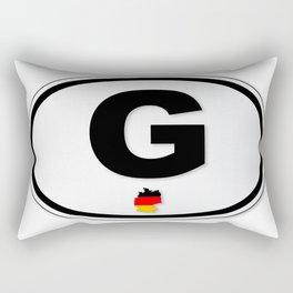 G Plate Rectangular Pillow