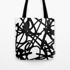 Meaningless - Black and white expressive painting Tote Bag
