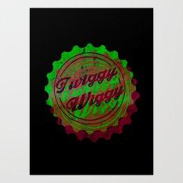 Twiggy Wiggy  Art Print