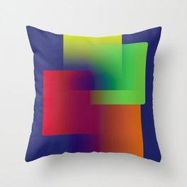 Color blocks Throw Pillow