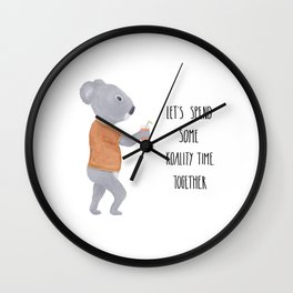 Valentine koala Wall Clock