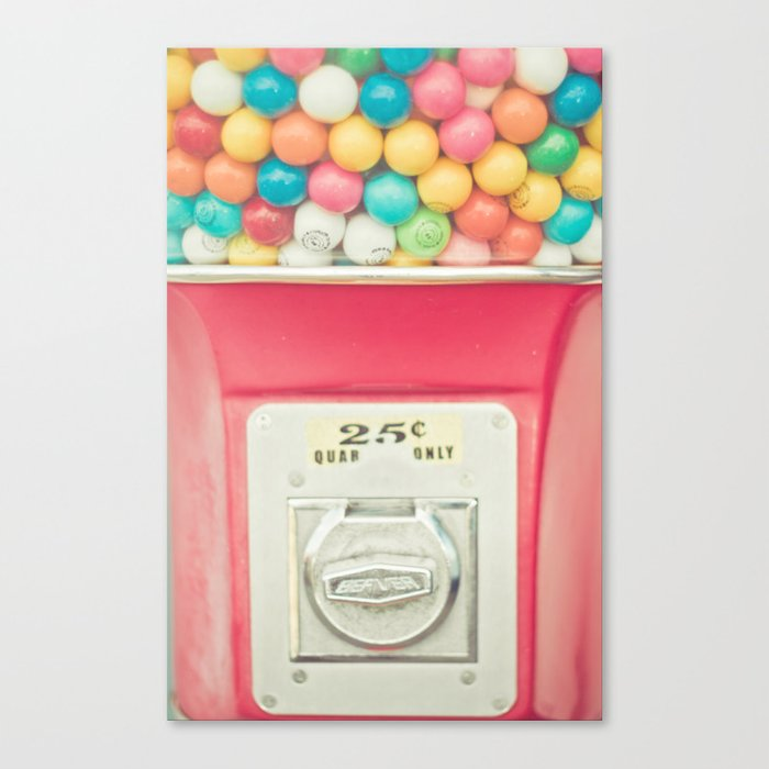 Rainbow Bubblegum Canvas Print