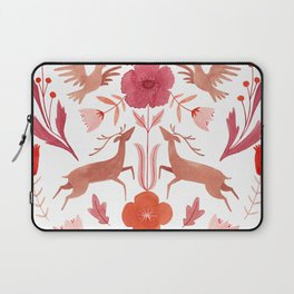 Bees, Deer & Birds Pattern Laptop Sleeve