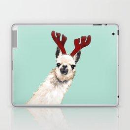 Llama Reindeer in Green Laptop & iPad Skin