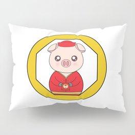 Chinese New Year Pig Pillow Sham