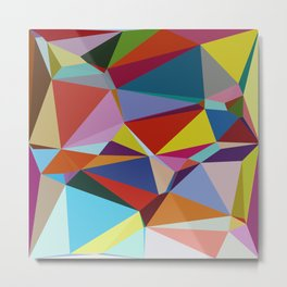Geometric Abstract Art Pattern Nine Metal Print
