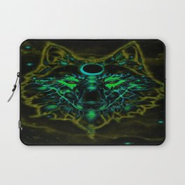 Mythical Neon Yellow Wolf Laptop Sleeve