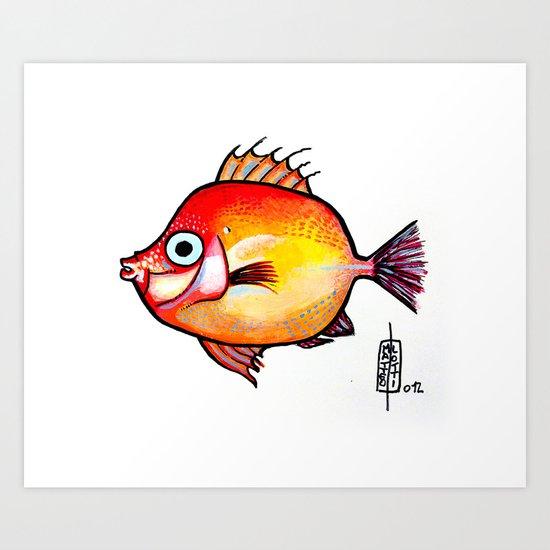 Pesce rosso Art Print