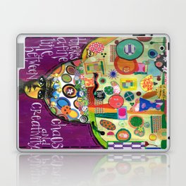 Chaos and Creativity Laptop & iPad Skin