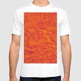 orange red flow T-shirt