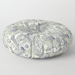 Seattle indigo cream Floor Pillow