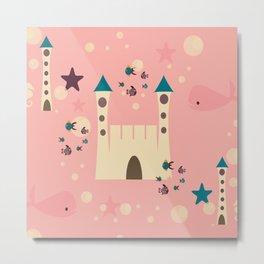 sand castle pink Metal Print