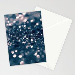Blush Blue Lady Glitter #1 #shiny #decor #art #society6 Stationery Cards