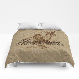 Tradewinds Hawaiian Island Hula Girl Comforters