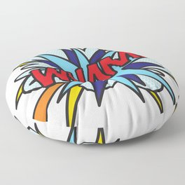 WHAM Comic Book Flash Pop Art Trendy Cool Typography Floor Pillow