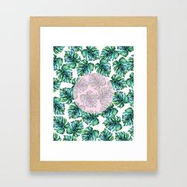 Monstera Pattern V1 #society6 #decor #buyart Framed Art Print
