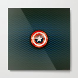 "Shield ""Catpain America"" Metal Print"