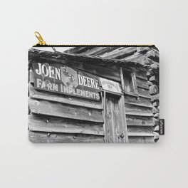 John Deere Farm Implements 8 x 10 Black and White Photo Carry-All Pouch