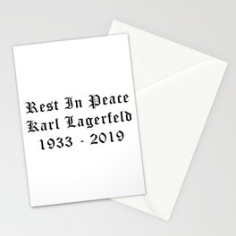 RIP Karl Lagerfeld Calligraphy Stationery Cards
