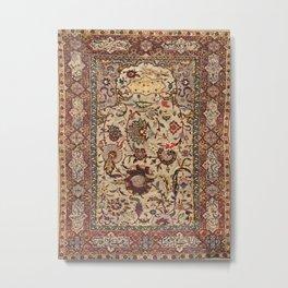 Safavid Silk Metal-Thread Persian Rug Print Metal Print