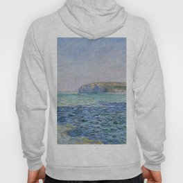 Shadows on the Sea at Pourville by Claude Monet Hoody