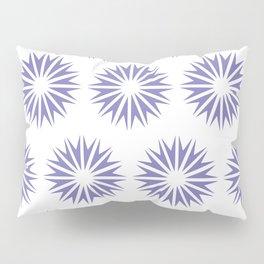 Purple Modern Sunbursts Pillow Sham
