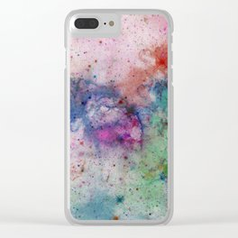 Star Gazer - Abstract, space, ink painting Clear iPhone Case