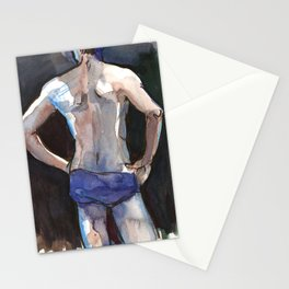 SETH, Semi-Nude Male by Frank-Joseph Stationery Cards
