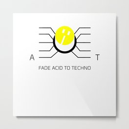 Fader Acid To Techno Metal Print