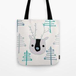 Holiday winter deer Tote Bag