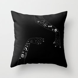 Space Arms Throw Pillow