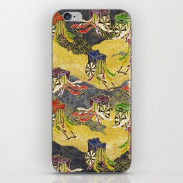 Oriental wagon pattern vintage iPhone Skin