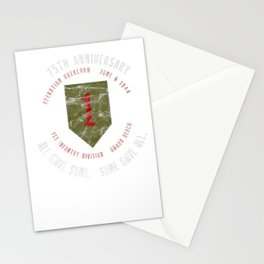 D-Day 75th Anniversary 1st Infantry Div. WWII Vintage Tee Premium T-Shirt Stationery Cards