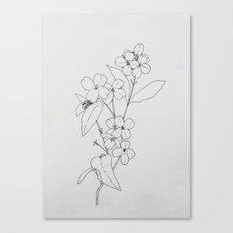 Flower01 Canvas Print