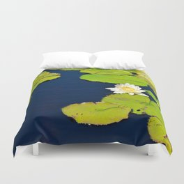 Dark Blue Pond by Teresa Thompson Duvet Cover