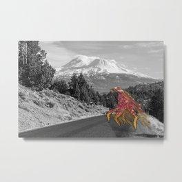Unseen Monsters of Mount Shasta - Laskkii Squintleek Metal Print