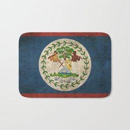 Old and Worn Distressed Vintage Flag of Belize Bath Mat