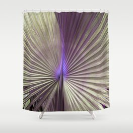 golden hearts of palm Shower Curtain